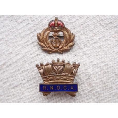 R.N.O.C.A and K/C R.N Lapel Badges