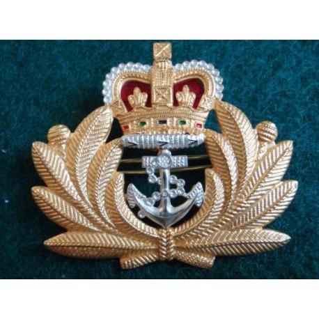 R.N Officers b/m Beret Badge