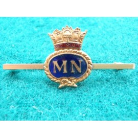 Merchant Navy Gilt & Enamel Sweetheart /Tie Pin