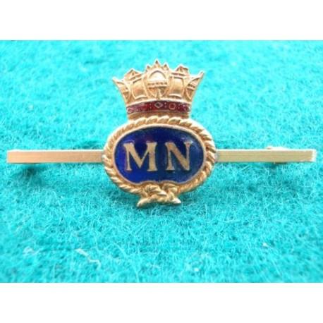 Merchant Navy Gilt & Enamel Sweetheart /Tie Pin
