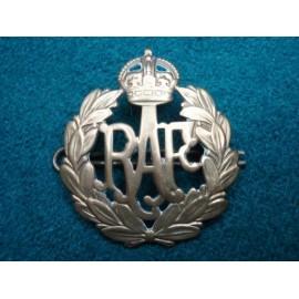 WW2 RAF Brass Cap Badge