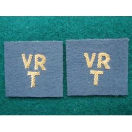 RAF VR/T Bullion Collar Badges