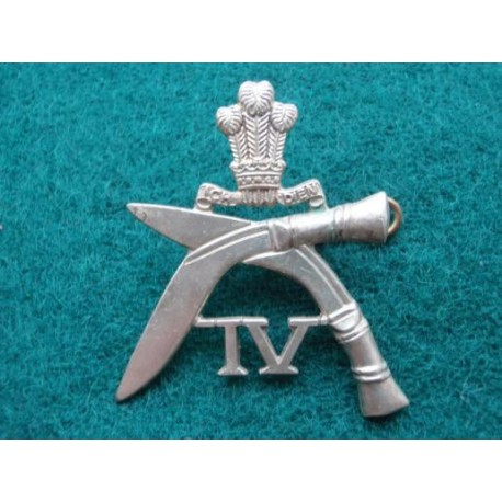 4th Prince of Wales Own Gurkha's w/m Hat Badge