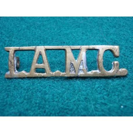 I.A.M.C Brass Shoulder Title
