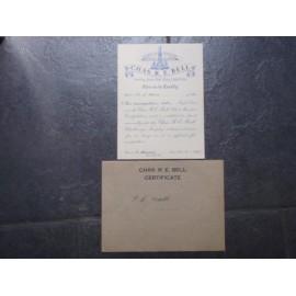 WW2 Met Police Small Certificate