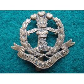WW1 Economy All Brass Middlesex Regt Cap Badge