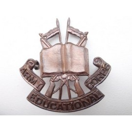Officers Bronze Army Educational Corps Cap Badge