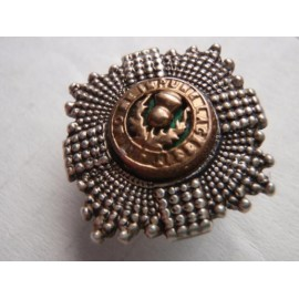 Scots Guards Officers Service Dress 1954 Hallmarked Silver Cap Star