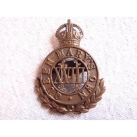 18th Hussars (Queen Mary's Own) Bronze OSD Cap Badge
