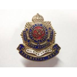 K/C R.A.O.C Regimental Association Gilt & Enamel Button Hole Badge