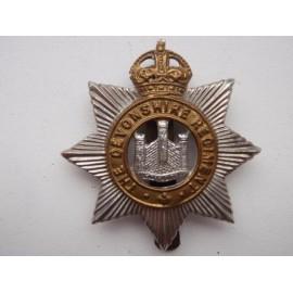 click for more images The Devonshire Regiment b/m Cap Badge