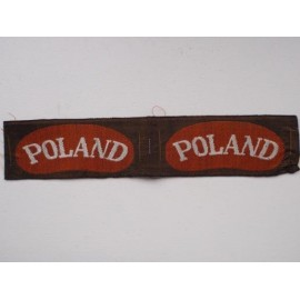 WW2 'POLAND' Bevo Silk Shoulder Titles