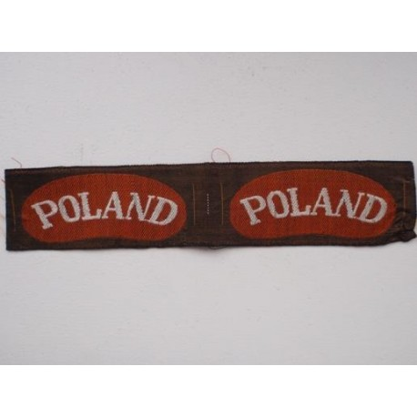 WW2 'POLAND' Bevo Silk Shoulder Titles