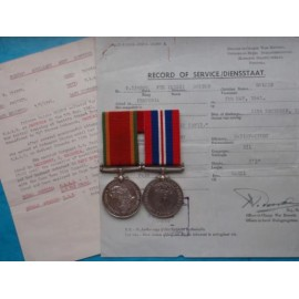 WW2 African Service Medal and War Medal to Female