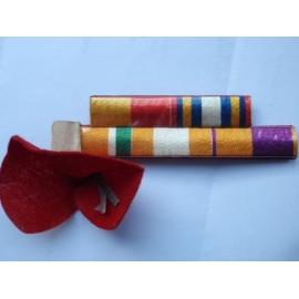 Early hand made patriotic medal ribbon bar