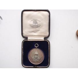 Solid Silver R.E Training Battalion Medallion
