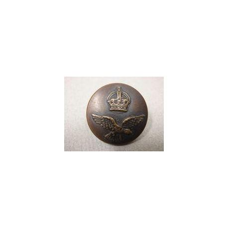 WW2 R.A.A.F Oxidised Tunic Button