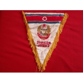 North Koreaa Silk Wall Pennant