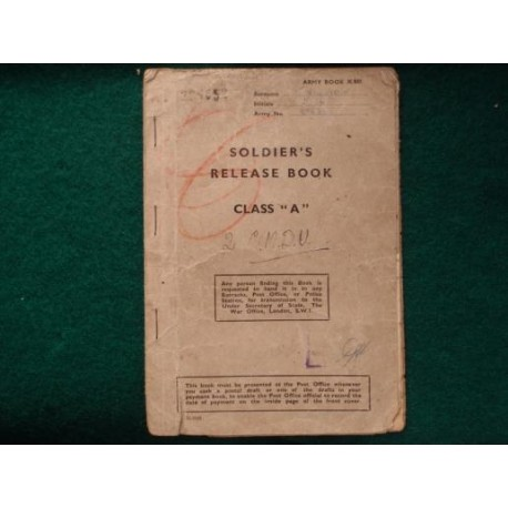 Soldier's Release Bool Class 'A' WW2 Book