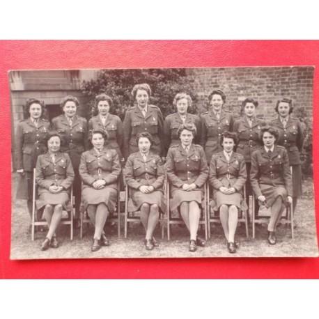WW2 ATS Postcard size Photo