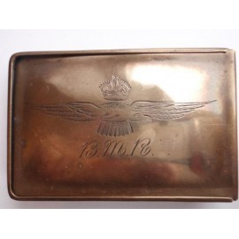 R.N.A.S or R.F.C Trench Art Cigarette Tin
