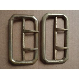 2 brass uniform belt buckles