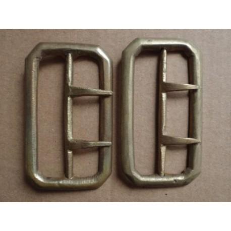 2 brass uniform belt buckles