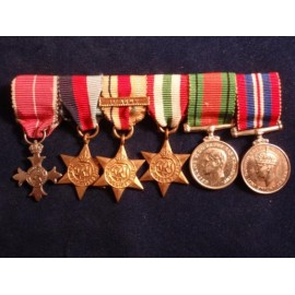 WW11 Military MBE First Army Group of Six