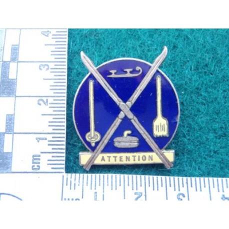 Winter Sports w/m & Enamel Lapel Badge