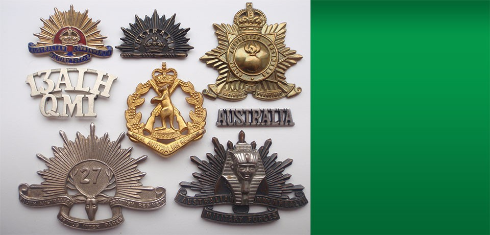Australian insignia. We are one of the leading supplies/collectors in the UK