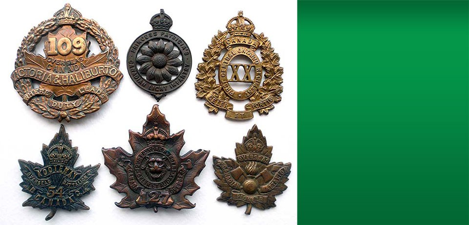 Selection of Canadian cap badges