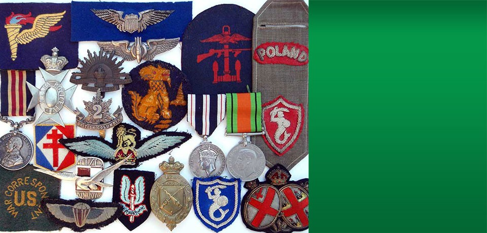 Some of our favorite militaria Insignia we've acquired