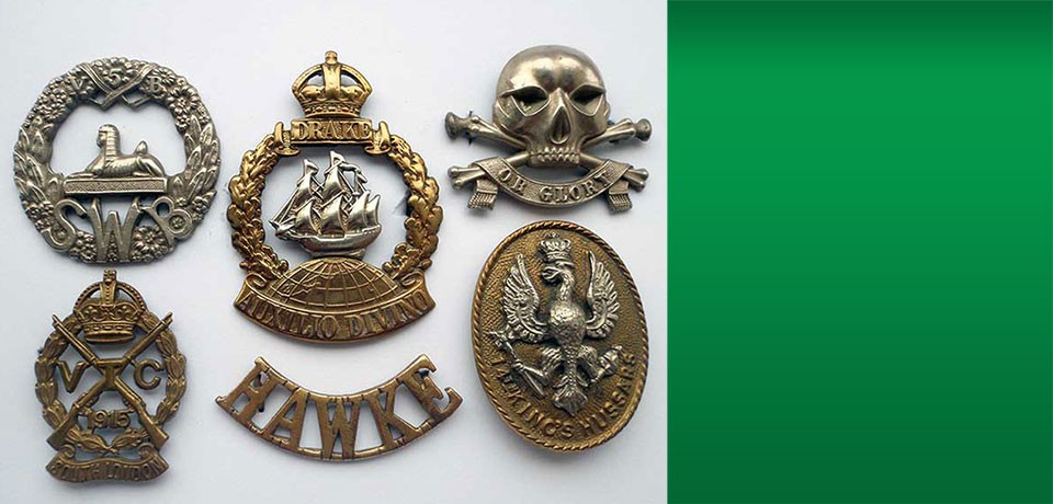 Some fine WW1 British Insignia badges